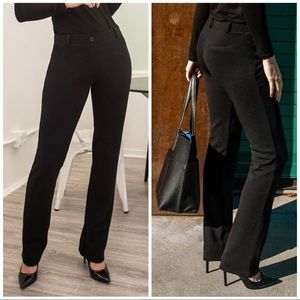 Betabrand Dress Pant Crepe Straight Pant, M